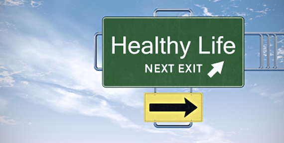 healthy-life-road-sign